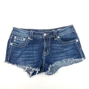 Womens Miss Me Cut Off Jean Shorts Size 31